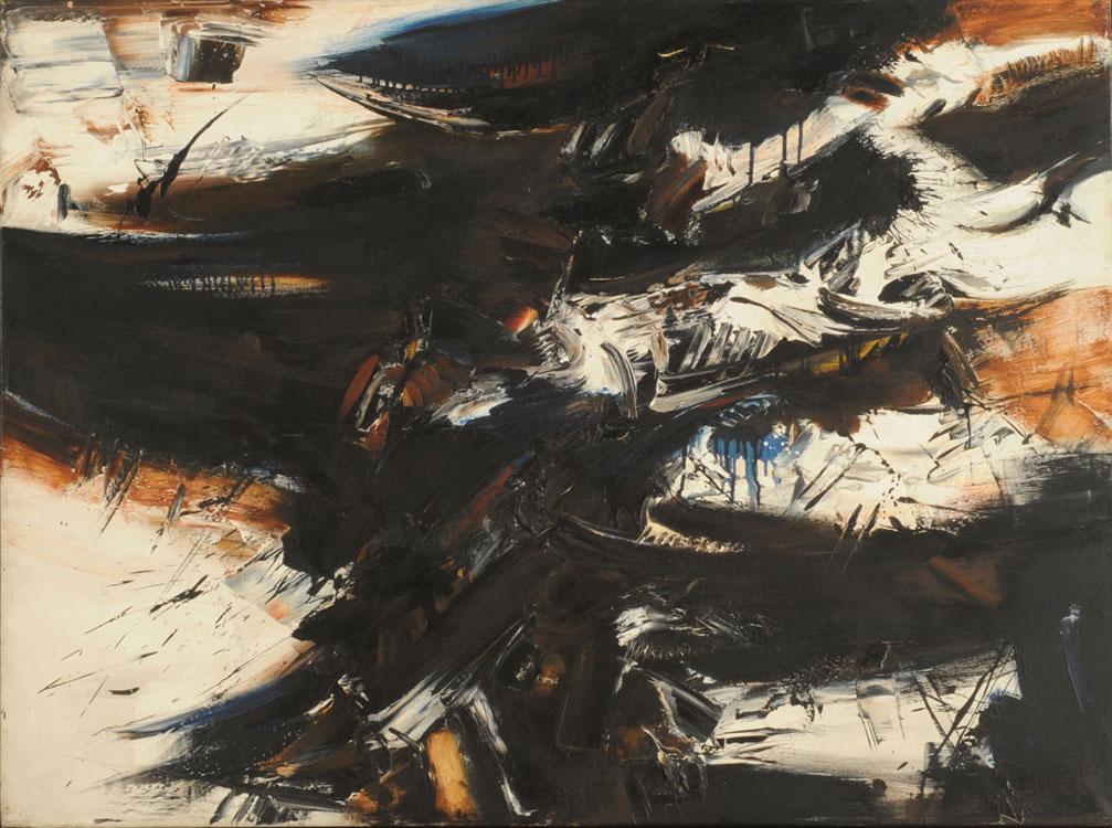 Kazuya Sakai, Pintura nº3-1, 1962. Técnica míxta sobre tela 97 x 130 cm