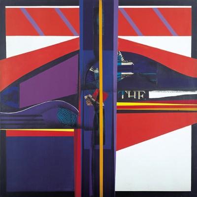 81 (Miles Davis) 1967 Acrylic on canvas 100 x 100 cm. Private collection