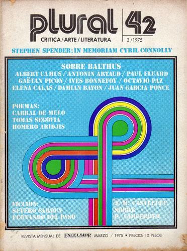 Revista Plural Nº 42, Marzo de 1975